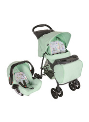 Graco Mirage Plus Travel System with Parent Tray Aztec Car Seat & Baby Stroller Set, Light Green