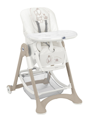 Cam Campione Baby High Chair, Bear, White