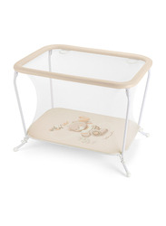 Cam Lusso Box Playpen with Playing Carpet, Bear, Brown