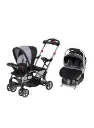 Baby Trend Flex-Loc Infant Car Seat, Onyx, Black/Grey