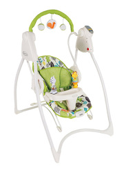 Graco N Bounce Baby Swing with Music, Bear Trail, White/Green