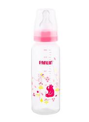 Farlin Pp Standard Neck Feeder Baby Bottle for Girls, 240ml, Pink/Clear