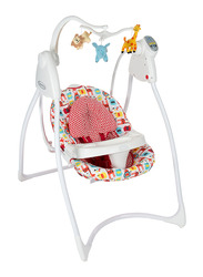 Graco Lovin Hug W-Plug Baby Swing with Music Wild Dayout, Pink