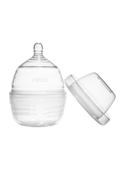 Farlin Space Saving Silicone Baby Feeding Bottle, 0+ Months 240ml, Clear