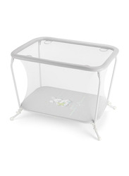 Cam Lusso Box Playpen with Playing Carpet, Rabbit, Grey