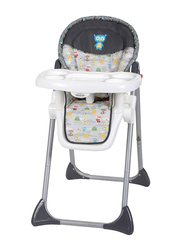 Baby Trend Sit-Right 3-in-1 Baby High Chair, Tanzania, White/Black
