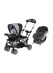 Baby Trend Sit N Stand Ultra Stroller + Flex-Loc Infant Car Seat Set, Phantom/Onyx, Multicolor