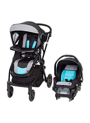 Baby Trend City Clicker Pro Travel System Baby Stroller, Soho Blue, Black