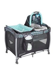 Baby Trend Resort Elite Nursery Center Play Yard with Bassinet, Laguna, Mint/Black