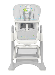 Cam Campione Baby High Chair, Rabbit, Grey