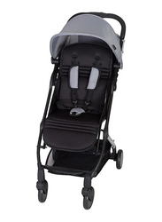 Baby Trend Tri-Fold Mini Baby Stroller, Pebble, Grey/Black