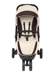 Cam Met Lightweight Baby Stroller, Beige