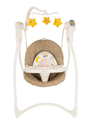 Graco Loving Hug Swing with Music, Plug in Counting Sheep, White/Brown