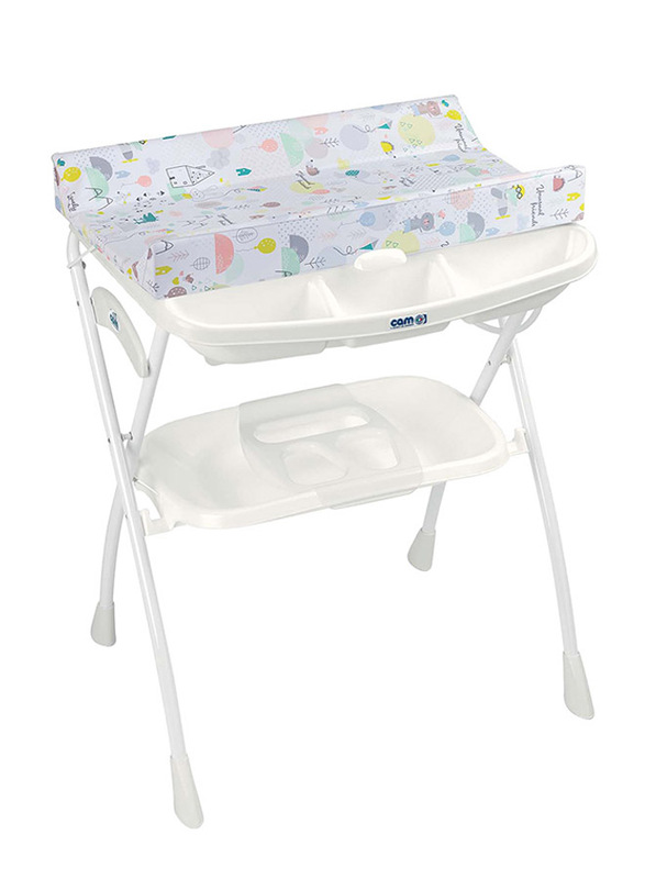 Cam Volare Bath Table for Kids, Kites, White