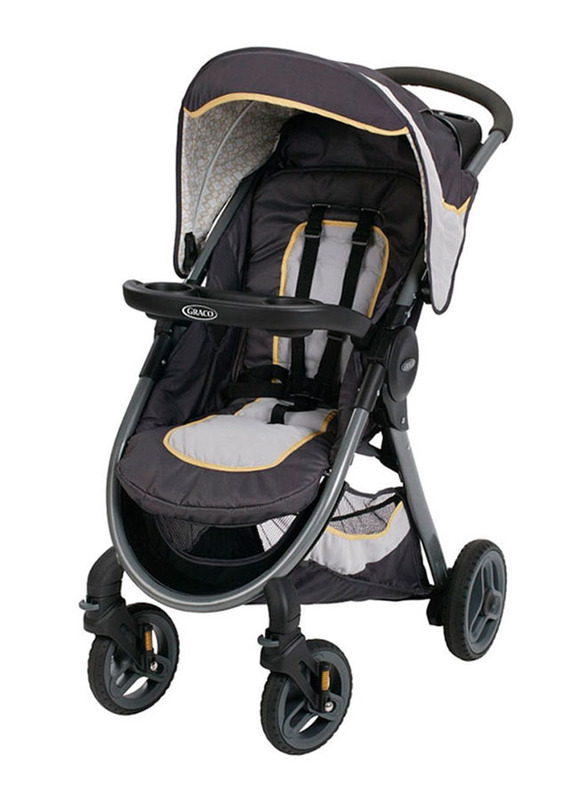 Graco Fast Action Travel System Henson Car Seat & Baby Stroller Set, Black