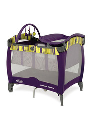 Graco Pack 'N Play Contour Electra Bassinet, Blackberry Spring, Purple
