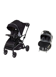 Baby Trend Sit N Stand 5-in-1 Shopper Stroller + Flex-Loc Infant Car Seat Set, Kona/Onyx, Black/Grey