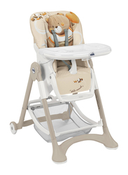 Cam Campione Baby High Chair, Bear, Brown