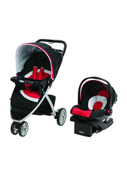 Graco Pace Click Connect Travel System Baby Stroller, Spice