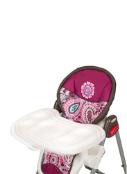 Baby Trend Sit Right High Baby Chair, Paisley, Maroon/White