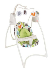 Graco Lovin Hug W-Plug Baby Swing, Bear Trail, White/Green
