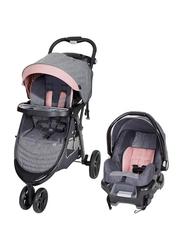 Baby Trend Skyline 35 Travel System Baby Stroller, Starlight Pink, Grey