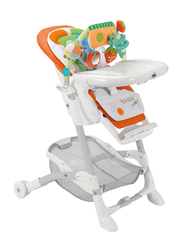 Cam Istante Baby High Chair, House, Orange