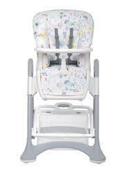 Cam Campione High Chair, Kites, White/Grey