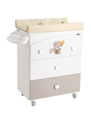 Cam Chest of Drawers for Baby, Bear, White