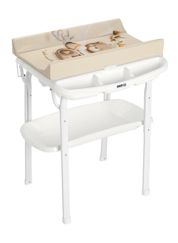 Cam Aqua Bath Table for Kids, Bear, Brown/White