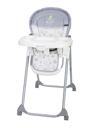 Baby Trend Hi-Lite Baby High Chair, Jungle Joy, White/Grey