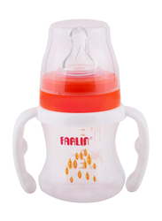 Farlin Pp Wide Baby Neck Feeder with Handle Baby Bottle, 150ml, Orange/White
