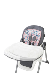 Baby Trend Tot Spot 3-in-1 High Baby Chair, Bluebell, Grey/Pink