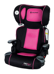Baby Trend Protect Series Yumi Folding Booster Car Seat for Girl, Ophelia, Pink/Black