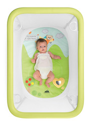 Cam Lusso Box Playpen with Playing Carpet, Nature, Green