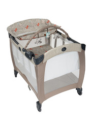 Graco Pack N Play Contour Electra Baby Travel Cot Woodland Walk, Beige