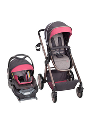 Baby Trend GoLite Snap Fit Sprout Travel System Baby Girls Stroller, Rose Gold, Pink/Grey