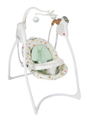 Graco Lovin Hug W-Plug Baby Swing with Music, Ted & Coco, Green