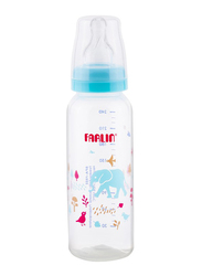 Farlin Pp Standard Neck Feeder Baby Bottle, 240ml, Blue/Clear