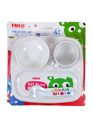 Farlin Baby Tableware Set, 4+ Months, White