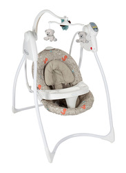 Graco Lovin Hug W-Plug Baby Swing with Music Woodland, Beige