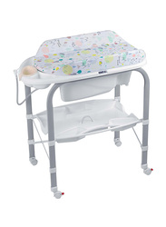 Cam Cambio Bathroom Changing Table for Baby, Kites, White/Grey
