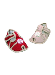 Farlin Baby Boots, 3-12 Months, Light Brown/Red