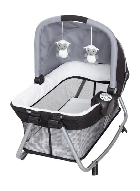Baby Trend Simply Smart Nursery Center Play Yard with Bassinet, Whisper Grey