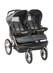 Baby Trend Navigator Double Jogger Stroller, Vanguard, Grey/Black/Orange