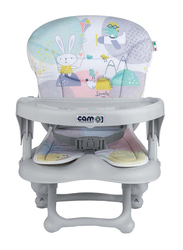 Cam Smarty Pop Booster Baby Feeding Chair, Kites, Grey