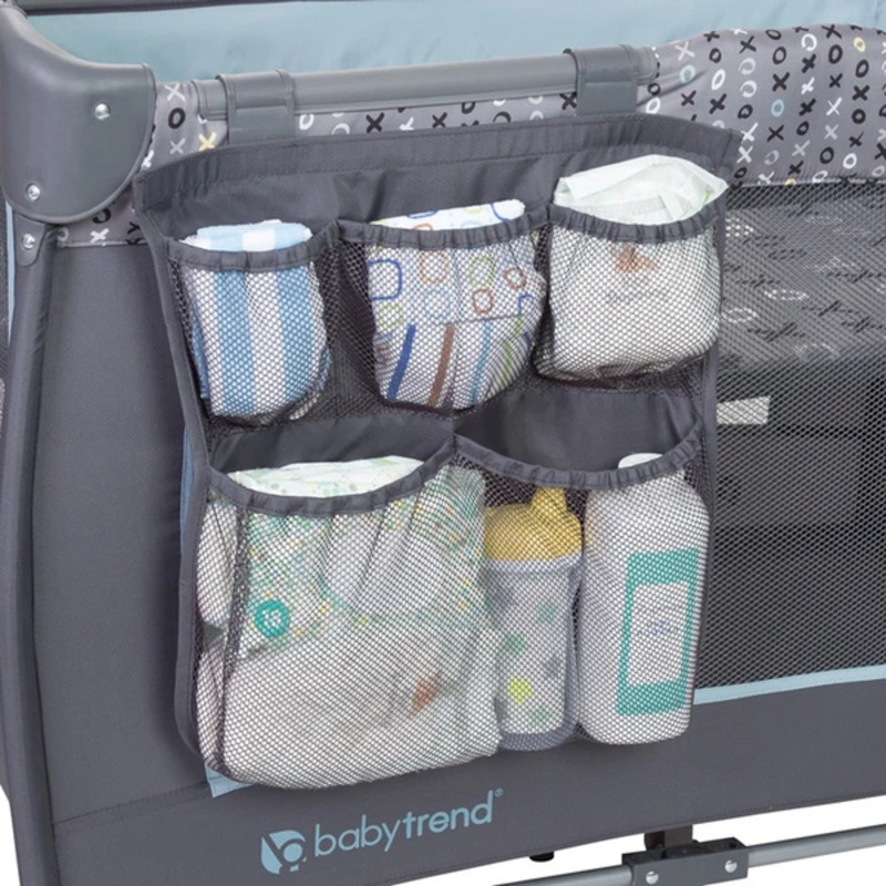 Baby Trend Trend-E Nursery Center Play Yard with Bassinet, Starlight, Blue