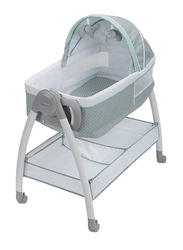 Graco Dream Suite Reversible & Changer Bassinet, Lullaby, Grey/White