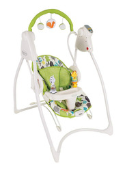 Graco My Friend Silhouette Baby Swing, Green/White