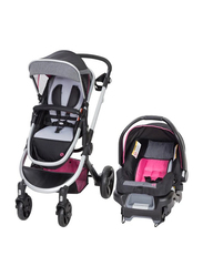 Baby Trend Espy 35 Travel System Baby Girls Stroller, Patagonia, Pink/Black